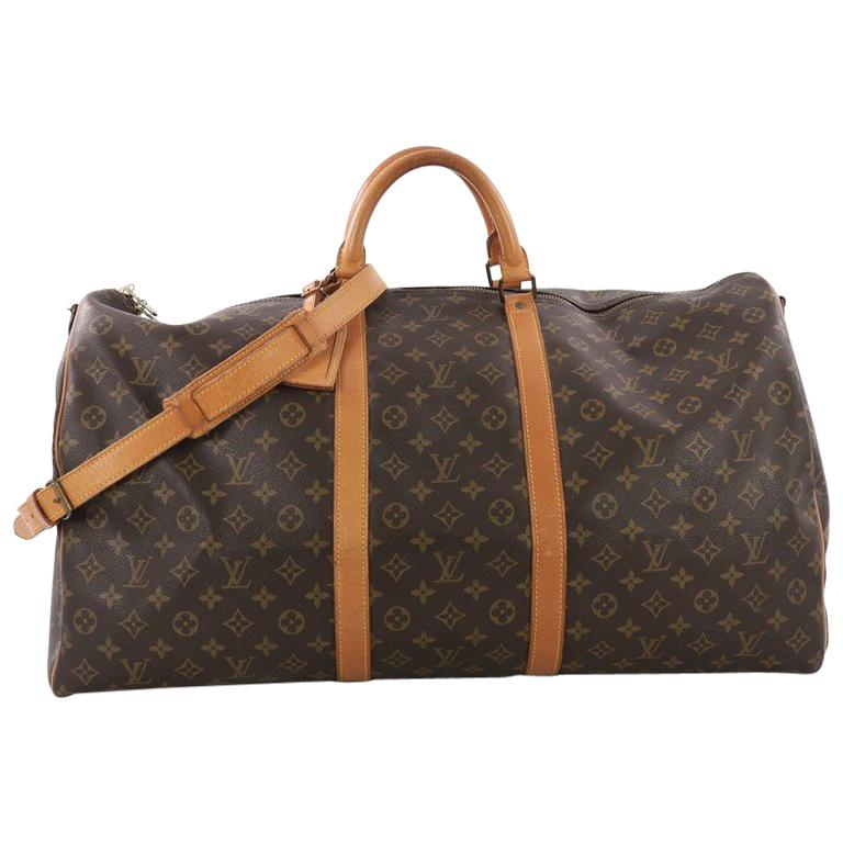 fea3cd6a3e3 Louis Vuitton Keepall Bandouliere Bag Monogram Canvas 60 For Sale at ...