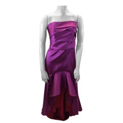 Marchesa Notte Pink and Red Satin Gown NWT