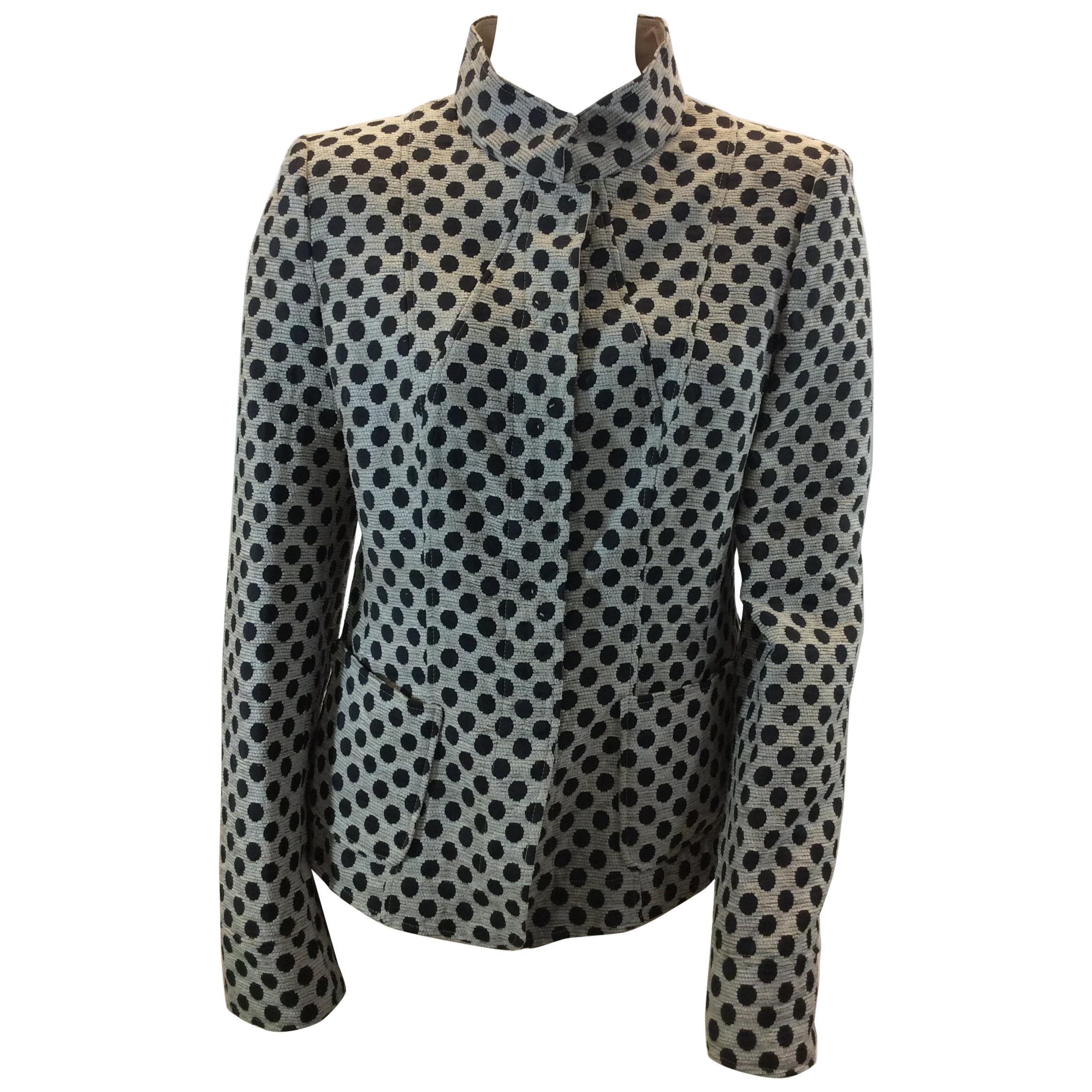 346166bbac7c4 Armani Collezioni Black and White Polka Dot Jacket For Sale at 1stdibs