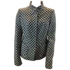 Armani Collezioni Tan and Black Polka Dot Jacket