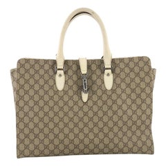 Gucci Jackie Soft Tote GG Coated Canvas Large