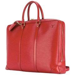 Louis Vuitton Red Epi Leather  Briefcase Bag