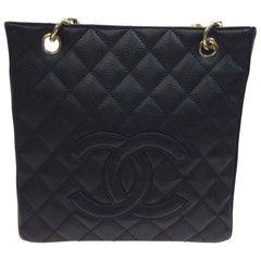Chanel Black Caviar Leather Petite Shopper NIB