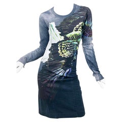 Maison Martin Margiela Eagle Print Long Sleeve Sweatshirt Novelty Dress
