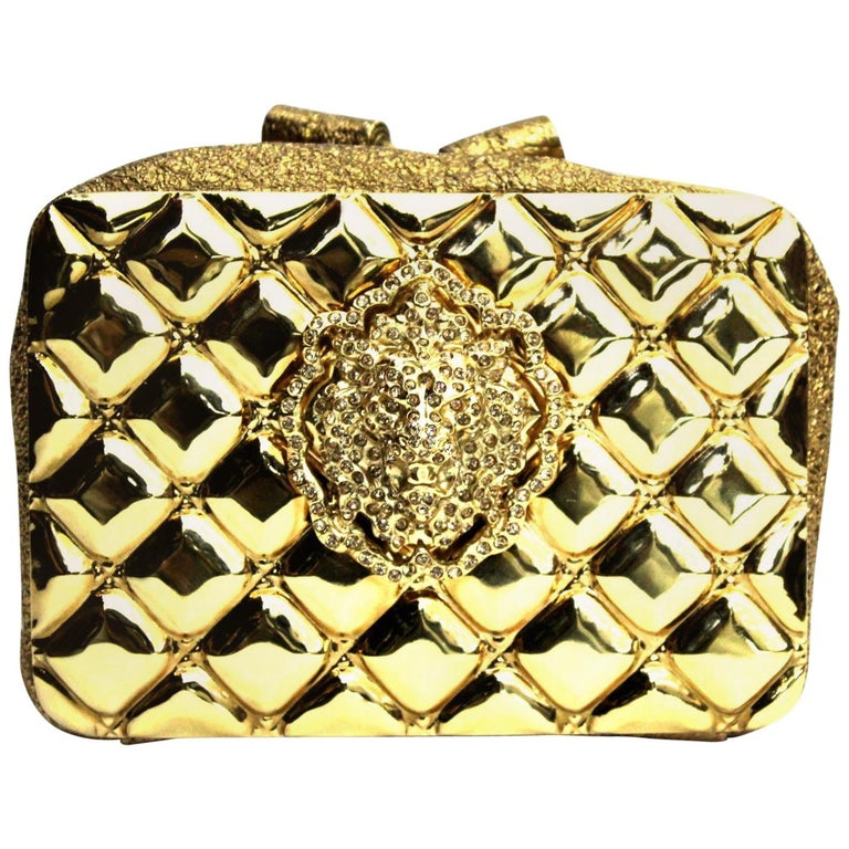 4c3fe97d61d079 Chanel Clutch Moscow Lion Gold and Metallic Leather For Sale at 1stdibs