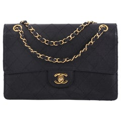 Chanel Vintage Chain Flap Shoulder Bag Quilted Caviar Small