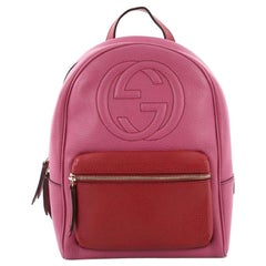 Gucci Soho Chain Backpack Leather
