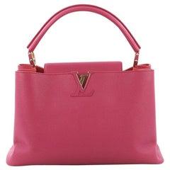 Louis Vuitton Capucines Handbag Leather MM