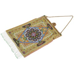 1920s Micro Beaded Persian Rug Purse