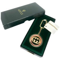 Gucci 1970s Vintage Keyring. Unworn with original box