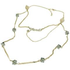 Fendi Long Multi-strand Crystal Necklace