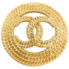 Chanel 1990s CC Logo Brooch Pin