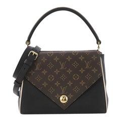 Louis Vuitton Double V Handbag Calfskin and Monogram Canvas