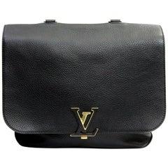 LOUIS VUITTON Black Taurillon Leather Volta Bag