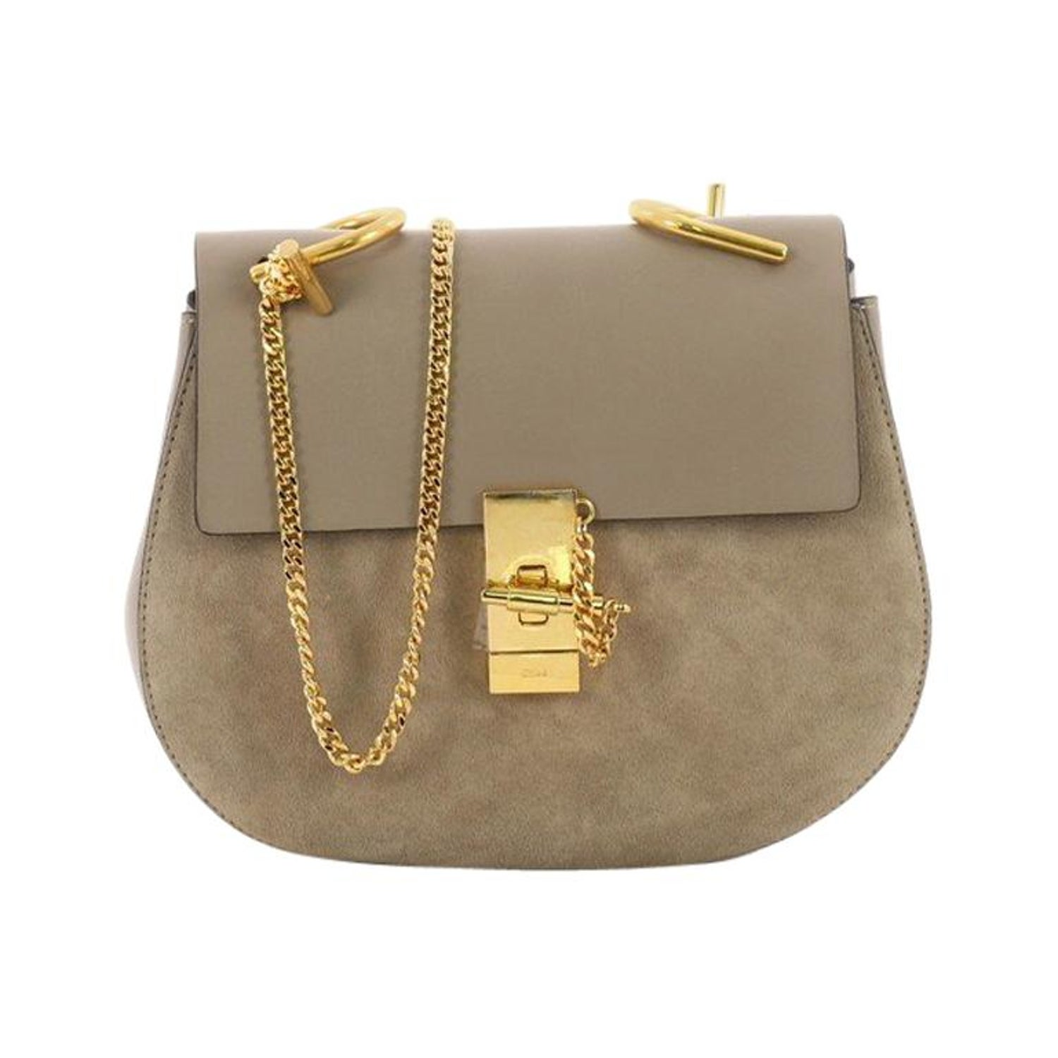 248302b8ee7c6 Chloe Drew Crossbody Bag Leather and Suede Small at 1stdibs