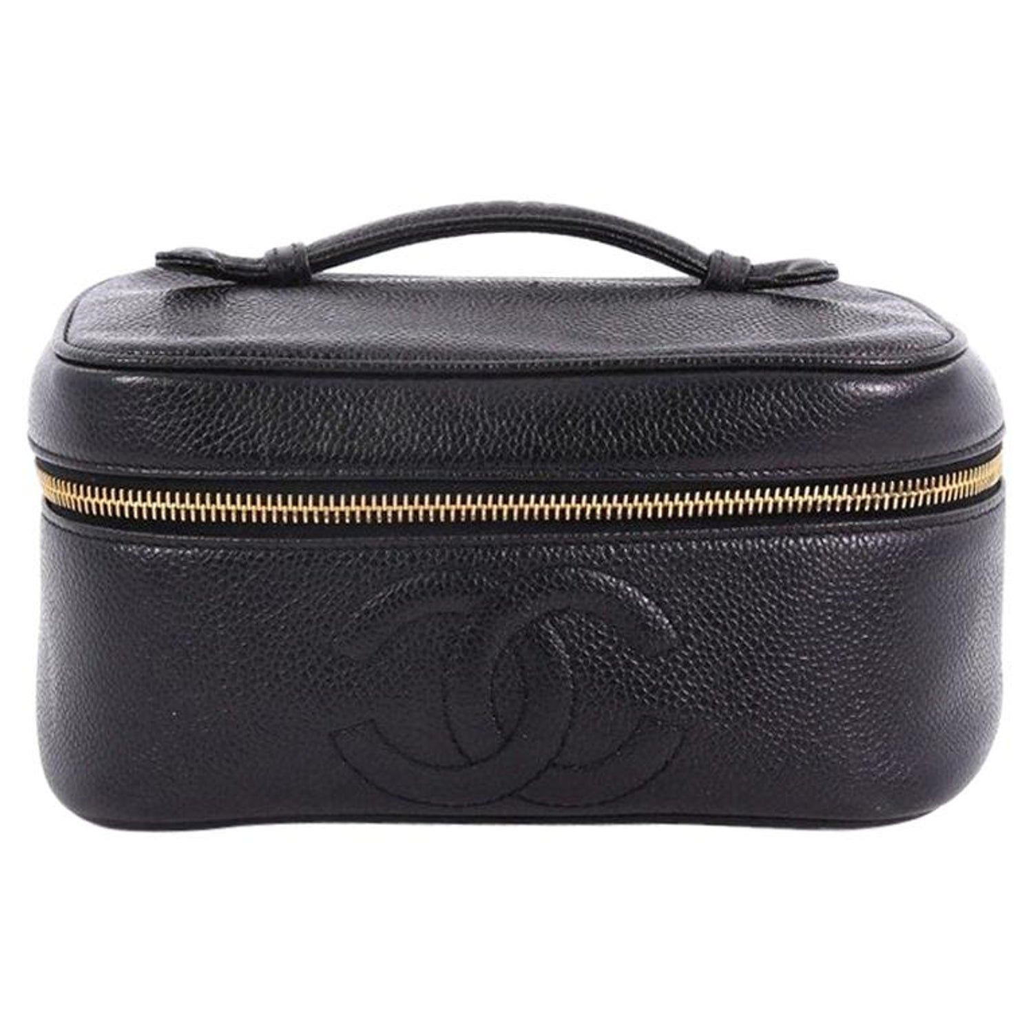 d9db0bc4eff6 Chanel Vintage Timeless Cosmetic Case Caviar at 1stdibs
