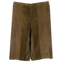 Martin Margiela artisanal tan corduroy reconstructed oversized pants, ca. 2000