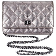 Chanel Reissue Pewter Wallet On A Chain Crossbody Bag