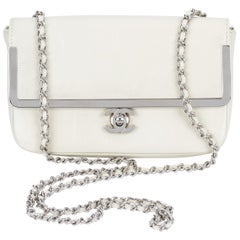 Chanel White Patent Leather Crossbody Bag