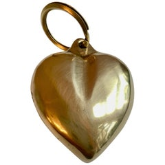 Brass Heart Key Chain