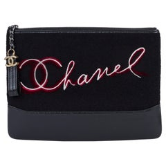 New in Box Chanel Black Paris Salzburg Clutch Bag