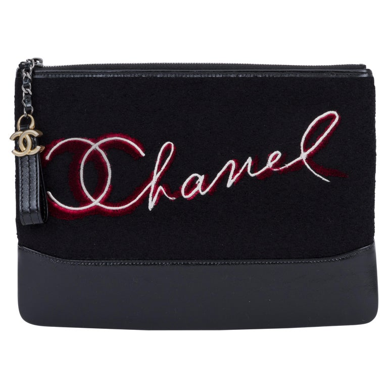 New in Box Chanel Black Paris Salzburg Clutch Bag For Sale