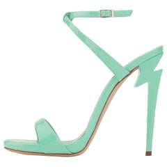 Giuseppe Zanotti NEW Mint Patent Leather Evening Sandals Heels in Box