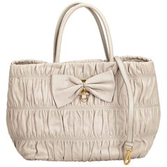 Prada Beige Faux Fur Chain Tote Bag at 1stdibs 4a41f2b01e