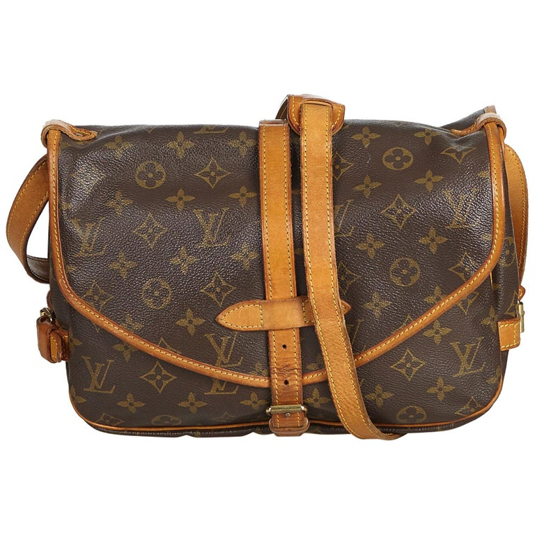 ... 2019 Reverse Handle  Mono Leather Bag. HomeFashionHandbags and  PursesCrossbody Bags and Messenger Bags. Louis Vuitton Brown Monogram  Saumur 30 For Sale c08f810242