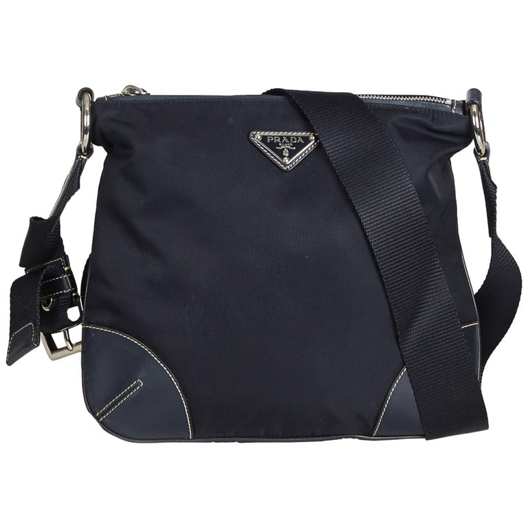 c16952a9f7b435 Prada Black Nylon Crossbody Bag at 1stdibs