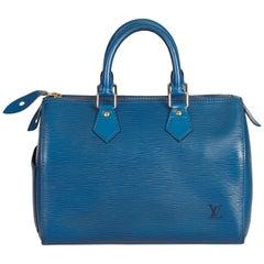Louis Vuitton Blue Epi Speedy 30