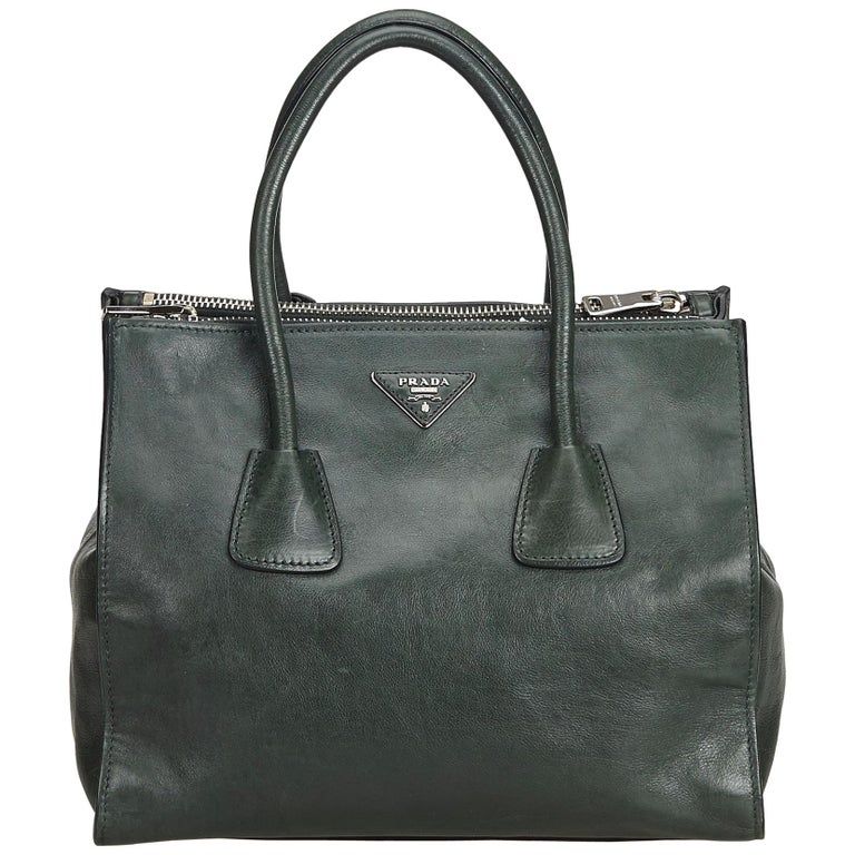 8ab3fb279ae9 Prada Green Leather Satchel For Sale at 1stdibs
