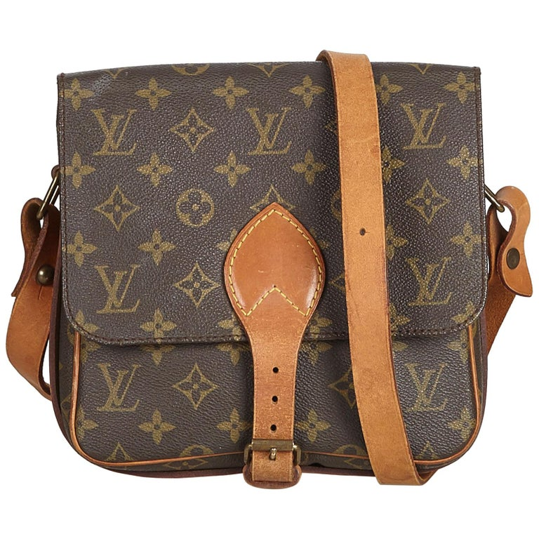 06d763f947de Louis Vuitton Brown Monogram Cartouchiere MM at 1stdibs