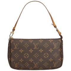 Louis Vuitton Brown Monogram Pochette Accessoires