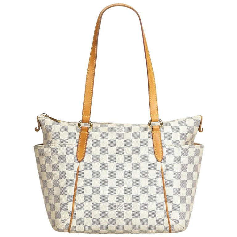 8834911e0 Louis Vuitton White Damier Azur Totally Pm At 1stdibs. Neverfull Mm Damier  Azur Canvas ...
