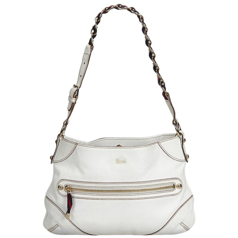 42e9ff4d11c148 Gucci White Small Capri Shoulder Bag at 1stdibs