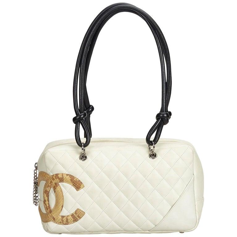 0fdc8be17d0 Chanel White Cambon Ligne Shoulder Bag For Sale at 1stdibs