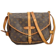 Louis Vuitton Brown Monogram Saumur 30