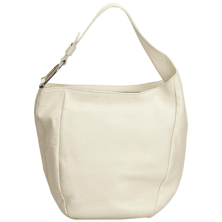 Gucci White Leather Greenwich Hobo