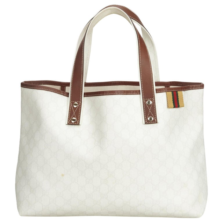 1b4f64079db Gucci White Guccissima Tote Bag at 1stdibs