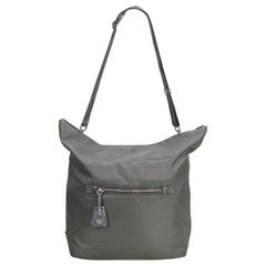 Prada Gray Nylon Satchel