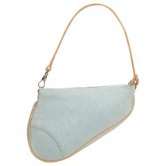 Dior Blue Denim Mini Saddle