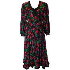 Vintage Kanga Silk Dress