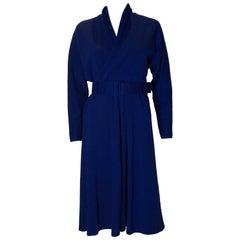 VintageJanice Wainwright Blue Jersey Dress