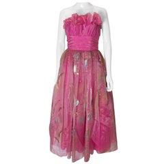 Vintage handbemalt Prom Kleid