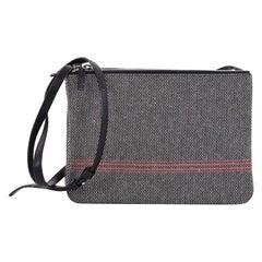 Celine Trio Crossbody Bag Tweed Large