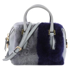 Tod's D Cube Convertible Bauletto Handbag Fur and Leather Mini