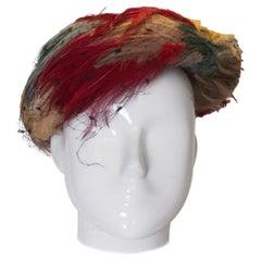 Vintage Multi Colour Feather Hat