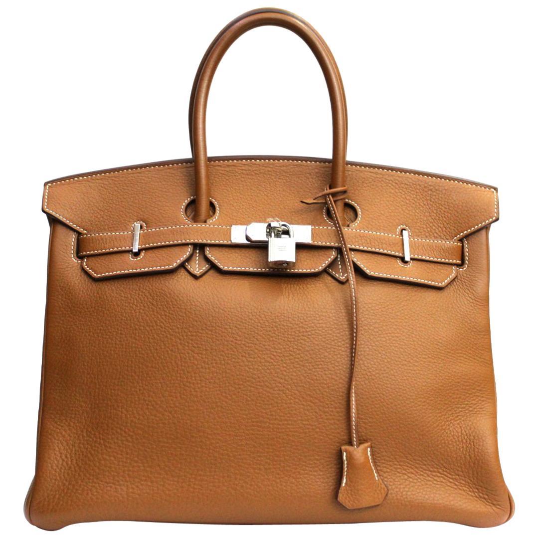 Hermes Gold Togo Leather Birkin 35 cm