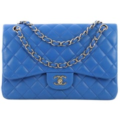 b9e2fe90568b Chanel Classic Double Flap Bag Quilted Lambskin Jumbo